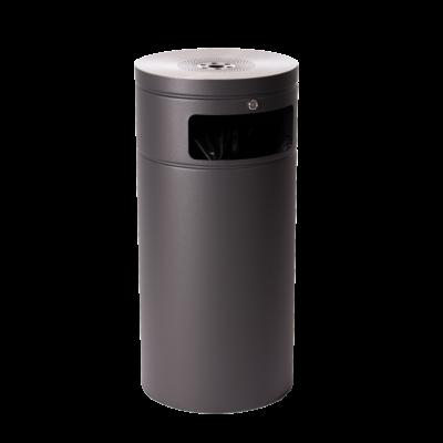 Affaldsspand med askebæger